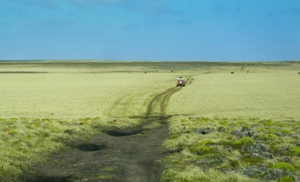 Driving across Falklands_Credit Jacki Bennett