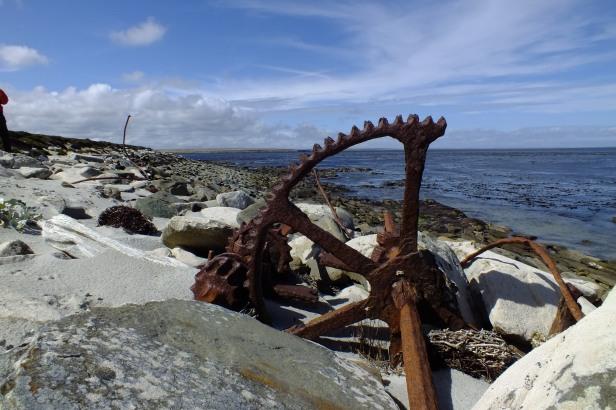 Old wreck along the coastline