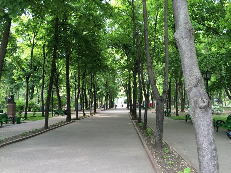 Parque en las inmediaciones del centro de Chisináu