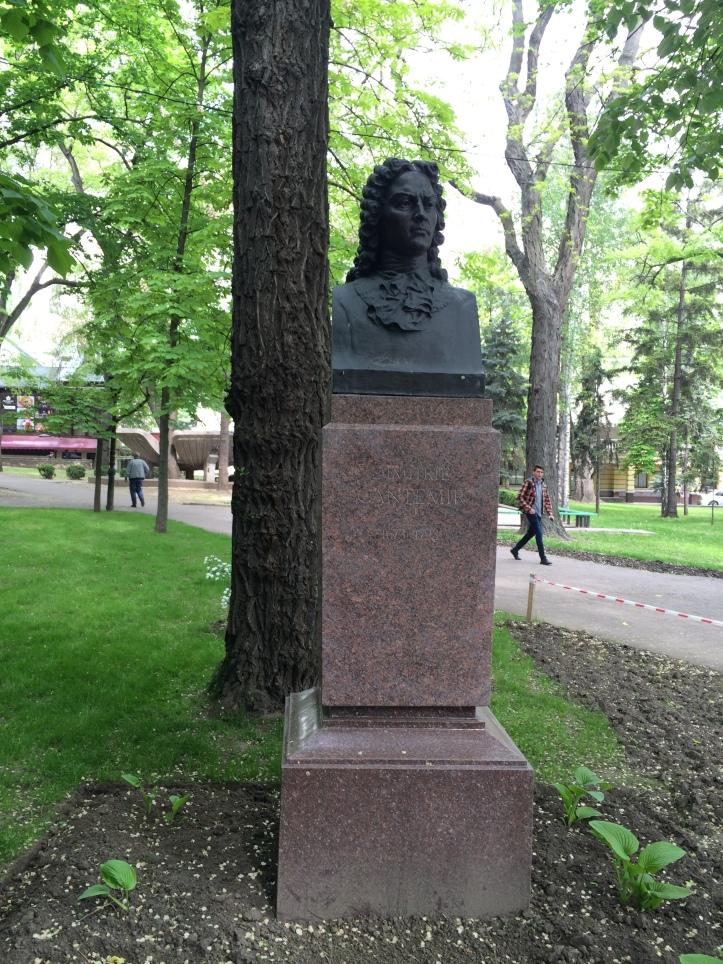 Busto de escritor moldavo