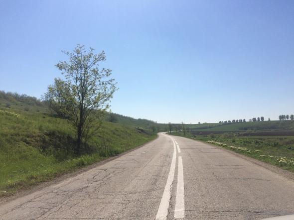 Cerca de la frontera entre Rumania y Moldavia