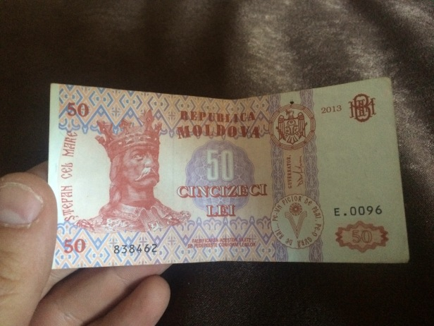 Billete moldavo