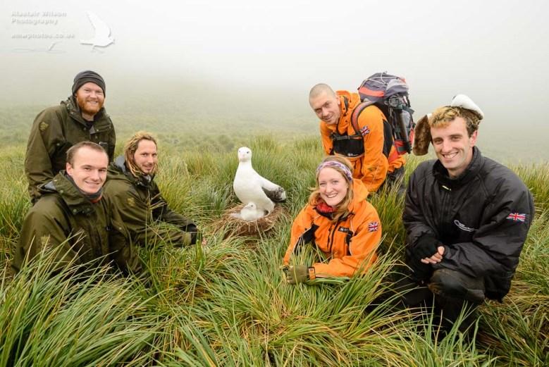 Bird Island research station team