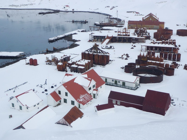 Grytviken Whaling station in the winter