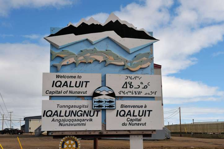 Welcome to Iqaluit sign (Courtesy of Hans Pfaff)