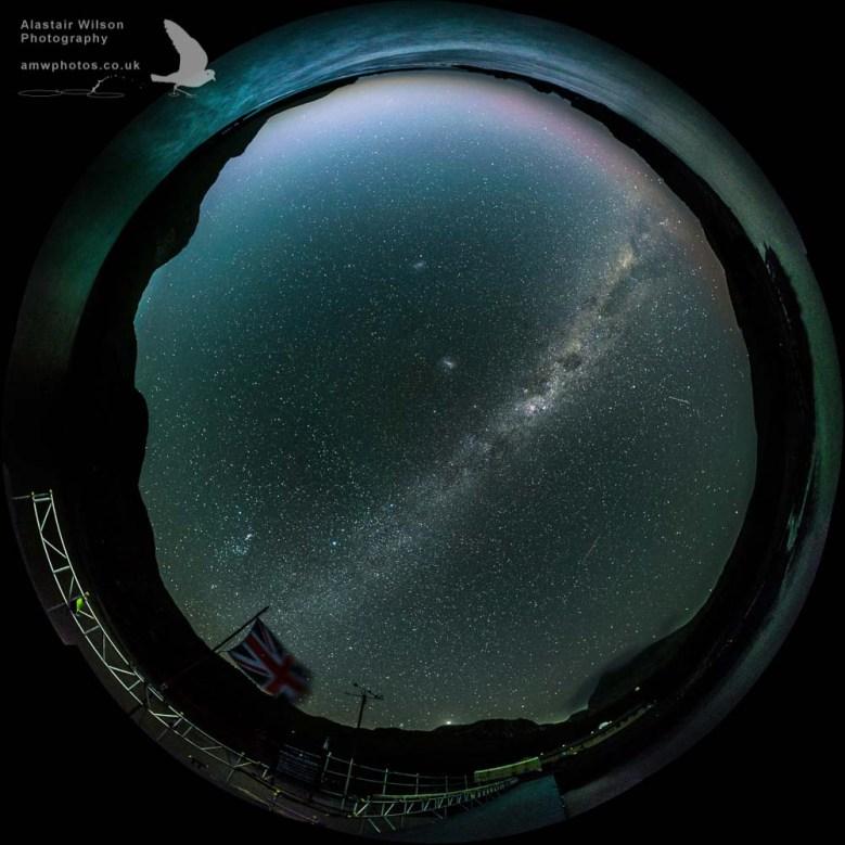 The night sky at Bird Island