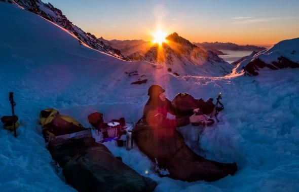 Acampando en el invierno (Cortesía: Ian Hey)
