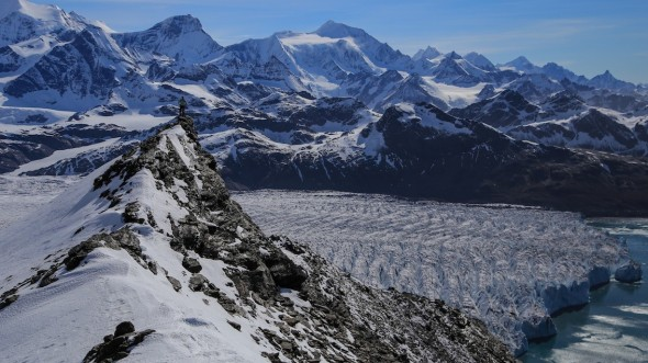 Exploring the mountains and glaciers of South Georgia (Courtesy of: Matthew Phillips)