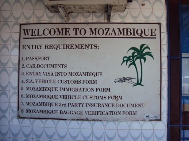 Puesto fronterizo de Ressano García, Mozambique
