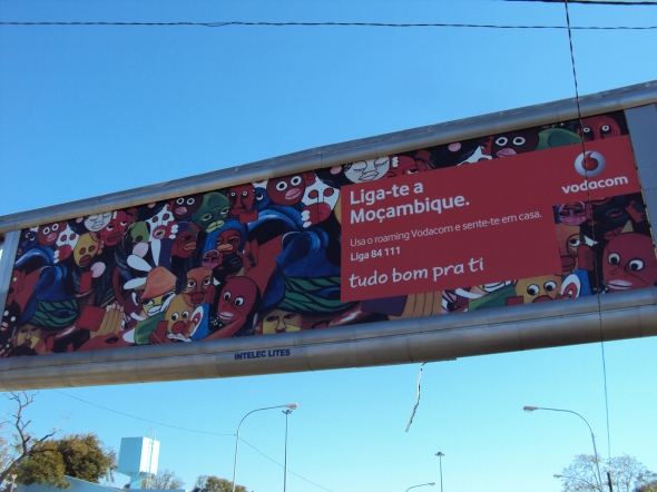 Publicidad de teléfonos móviles en Mozambique