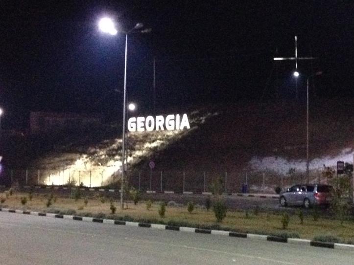 La única foto que tomé en la frontera a las 11 pm antes de los insucesos