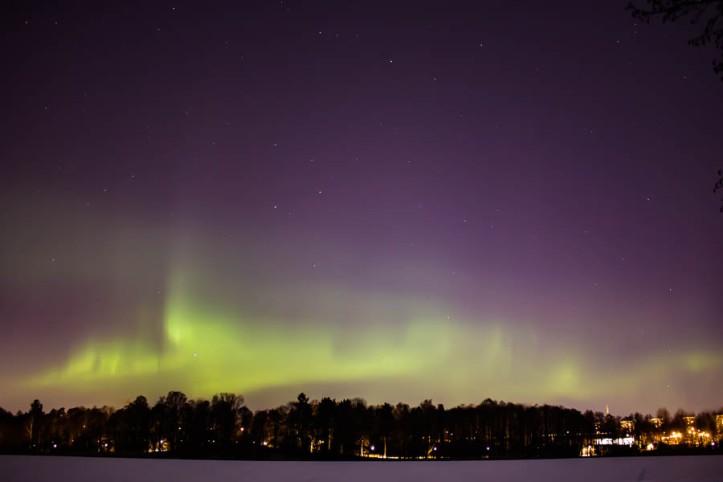 Northern lights from Råstasjön