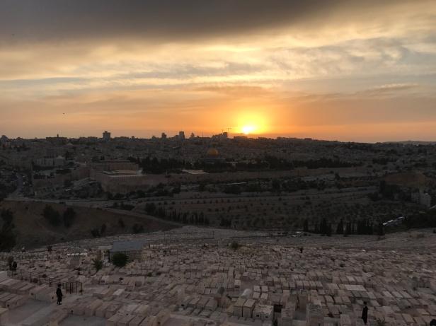 Atardecer desde el Monte de los Olivos (2)