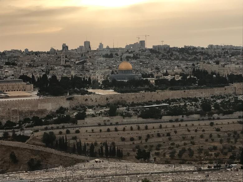 Atardecer en Jerusalén desde el Monte de los Olivos