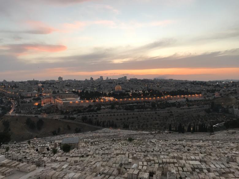 Atardecer sobre Jerusalén