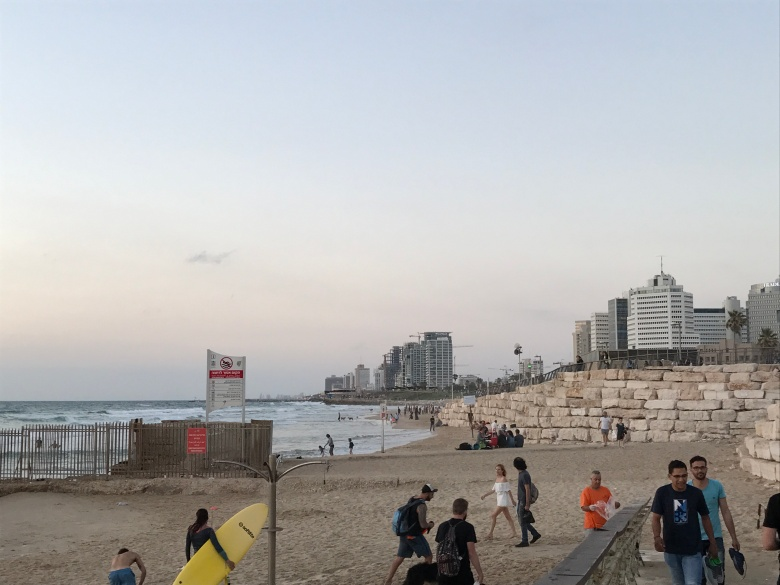 El Mediterráneo al atardecer en Tel Aviv (2)
