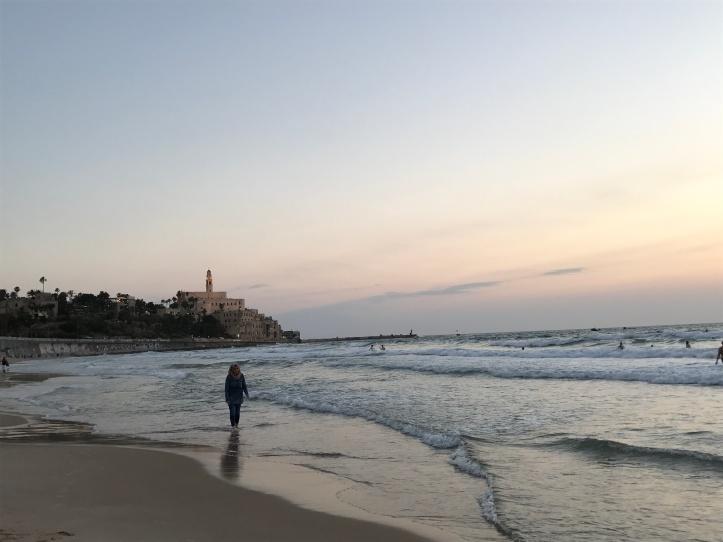 El Mediterráneo al atardecer en Tel Aviv