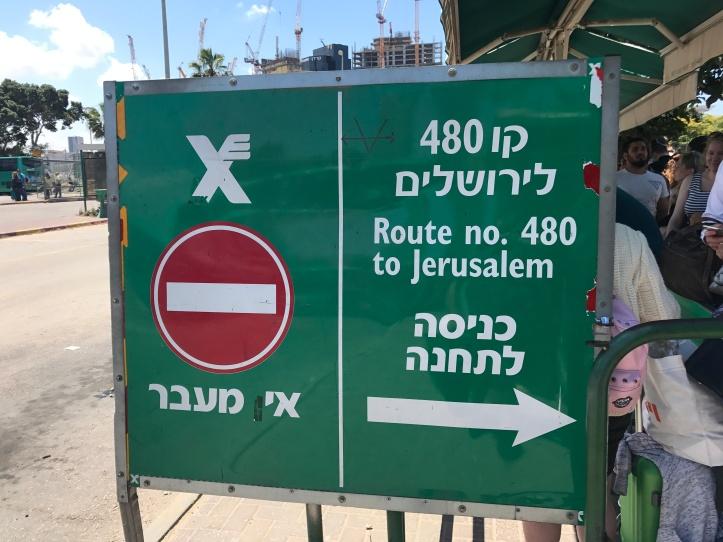 Tomando el bus a Jerusalén desde Tel Aviv
