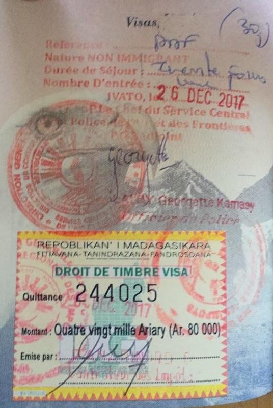 Visa Madagascar