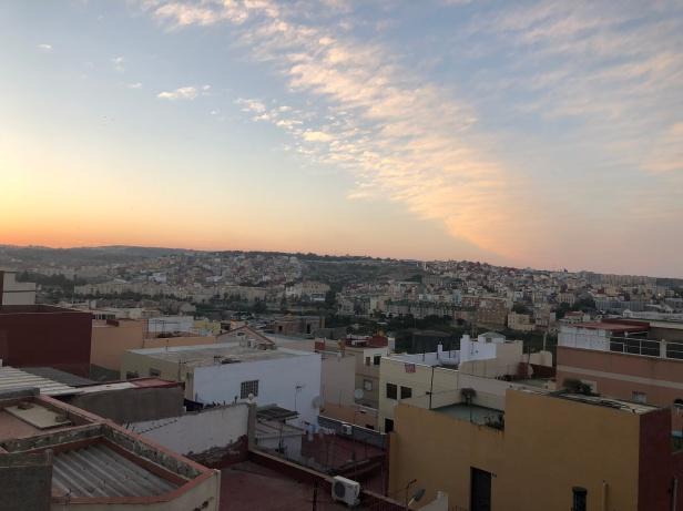 Panorámica de Melilla al atardecer