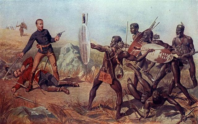 Lieutenants-Melvill-and-Cooghill-24th-Regiment-dying-to-save-Queens-colours.-An-Incident-at-the-Battle-of-Isandlwana.