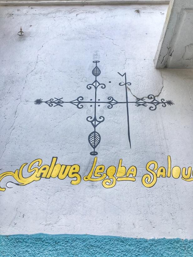 Vevé Vudú - Papa Legba calles de Cap Haïtien