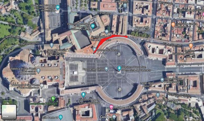 Mapa Roma Vaticano